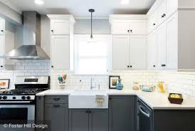 two tone kitchen cabinets white and grey two tone kitchen cabinets to inspire your next redesign