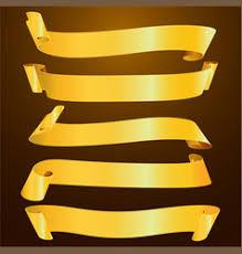 gold ribbon gold ribbon royalty free vector image vectorstock