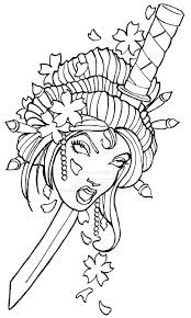 geisha tattoo u2013 japanese geisha stencil tattooshunter com
