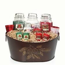 candle gift baskets yankee candle gift basket home decor