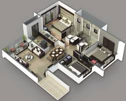 2 bedroom house plan bedroom house plans collection and attractive simple design 3d 2
