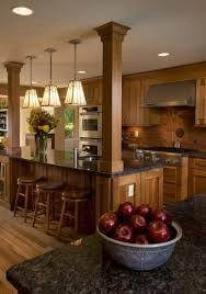 dark kitchen island ceiling trim ideas molded wood bar stools rattan dining chairs