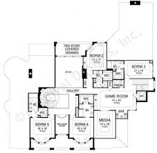 Second Story Floor Plans by Beverly Comtenporay Designs Luxury House Plans