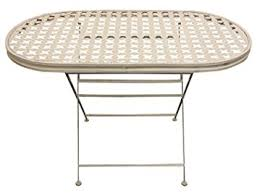 metal folding table outdoor woodside oval folding metal garden patio dining table outdoor