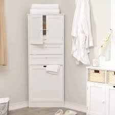 White Bathroom Storage Cabinets - tall linen cabinet classic vanity lighting beside double wall