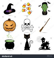 cute halloween icons set stock vector 37871053 shutterstock