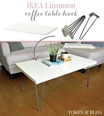 ikea 10 linnmon coffee table hack by token u0026 bliss