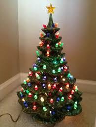 ceramic christmas tree with lights vintage ceramic christmas tree lighted approx 20