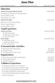 Best Legal Resumes by Pre Law Resume Resume For Your Job Application