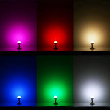 controlled color changing a19 5w led light bulb 16 color choice