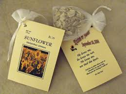 seed favors a few of my favorite things sunflower seed packet wedding favor