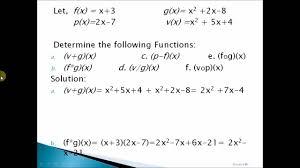 gen math operation on functions tagalog filipino youtube