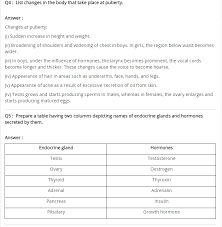 ncert solutions for class 8 science ch 10 reaching the age of