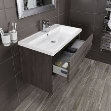 Wall Hung Vanity Unit With Basin Vermont 800 Basin And Grey Avola Wall Mounted Vanity Unit Bathstore