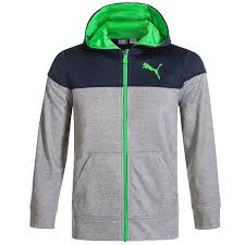 Puma Fleece Full Zip Hoodie For Boys Save 65
