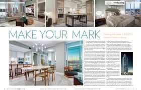Condo Living Interior Design by Mark On 10th U0027s Interior Design In Condo Living Magazine Qualex