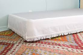 Detachable Bed Skirts Diy Velcro Bedskirt U2013 A Beautiful Mess