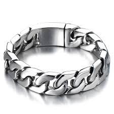 bracelet man images 2018 cuban chain bracelet men stainless steel curb chain bracelet jpg
