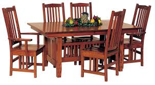 Amish Dining Room Furniture Mission Trestle Dining Table By Keystone For Amish Room Sets Plans