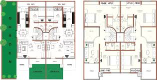 4 bedroom row house plans home ideas remarkable 15 vitrines