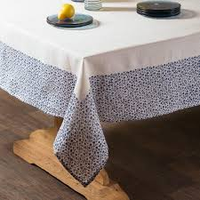 Coffee Table Cloth by Block Print Floral Edge Tablecloth Vivaterra