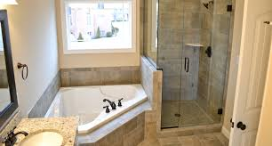 Bathtubs And Showers For Small Spaces Master Bath With Granite Countertops Stand Up Shower With A Shelf