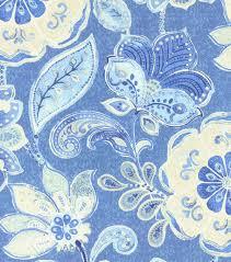 Iman Home Decor Home Decor 8 X 8 Swatch Fabric Iman Javanese Garden Porcelain