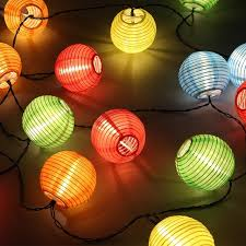 led lantern string lights solar lantern string lights 20 lanterns for holiday led ball solar