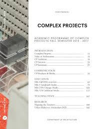 complex projects chair manual fall 2016 by