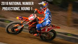 motocross ama 2018 ama national number projections round 1 motocross feature
