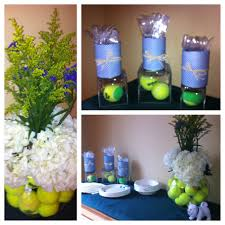 Large Round Glass Vase Party For Tennis Team Centerpiece Large Round Glass Jar Filled