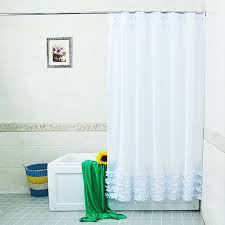 Frilly Shower Curtain Online Get Cheap White Ruffle Shower Curtain Aliexpress Com