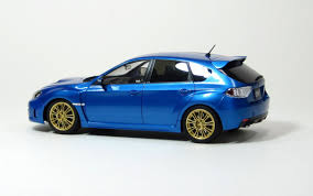 blue subaru hatchback amazon com aos49747 1 24 aoshima subaru impreza wrx sti option