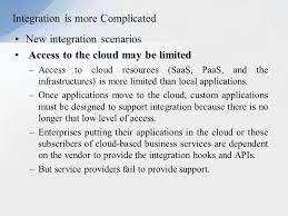 enriching the u0027integration as a service u0027 paradigm for the cloud