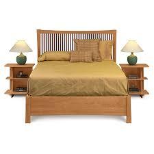 Berkeley Storage Bed Natural Cherry Wood Hardwood Platform Beds - Berkeley bedroom furniture