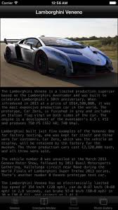 lamborghini veneno specification specs for lamborghini veneno on the app store