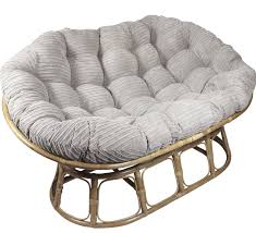 decor cool rattan papasan chair frame and double papasan cushion