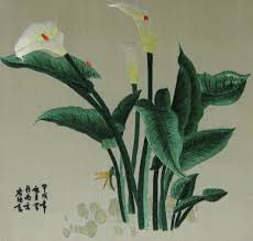 Calla Lily Home Decor Chinese Art Hand Made Silk Embroidery Flowerhome