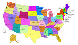 Map Of United States Capitals by Clipart United States Map With Capitals Fixed