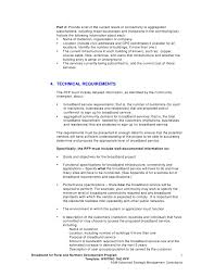 rfp template 2 writing the request for proposal rfp