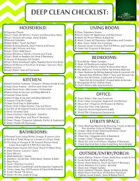 how to deep clean deep cleaning checklist paso evolist co