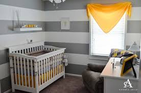 Yellow Gray Nursery Decor Baby Room Attractive Striped Color Style For Nursery Room
