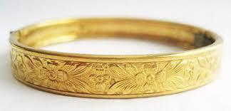 child bangle bracelet images Vintage repousse hinged child size brass bangle bracelet hollee jpg