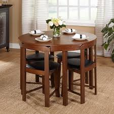 amazon com mid century tobey walnut compact dining set 5 piece