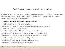 Resume Cover Letters Samples by Top 5 Finance Manager Cover Letter Samples 1 638 Jpg Cb U003d1434614453