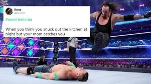 Wrestlemania Meme - wrestlemania 2018 it s raining memes and jokes as undertaker