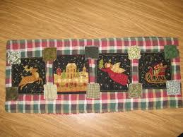 Christmas Plaid Table Runner by Craft Aholic No Intervention Needed Patchwork Table Runner