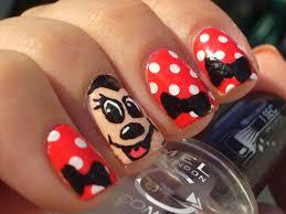 minnie mouse nails craft nail minnie mouse disney nail art nails