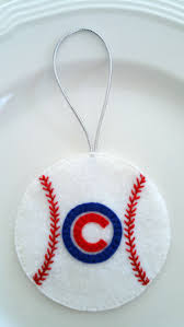 felt christmas ornament u2013 chicago cubs baseball pinned by