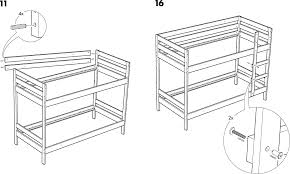 IKEA Beds MYDAL BUNK BED FRAME TWIN PDF Assembly Instruction Free - Ikea bunk bed assembly instructions
